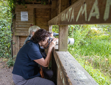 Photographers in the hide