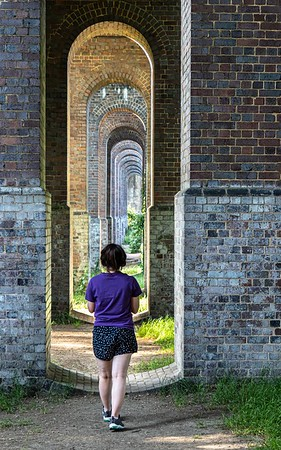 Walking down the arches
