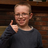 Day 4 (1/1/2018): Casey is giving 2018 a thumbs up