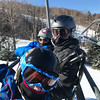 Day 17 (1/14/2018): Riding up the Learning Center Quad at Bretton Woods together