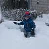Day 7 (1/4/2018): Connor playing in the snow after the Blizzard of 2018