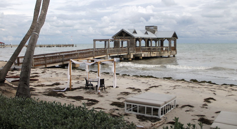 The storm left the beach in a not so idyllic state.