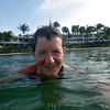 Enjoyable swim in the saltwater lagoon, sandwiched between hotel and sea