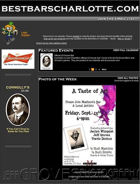 "Sept 23 - Madison's ""Taste of Art"" makes ""photo of the week"" on Best Bars Charlotte website.<br><br>  <strong><a href=""http://www.bestbarscharlotte.com/"" target=""_blank"" >Click here to visit BestBarsCharlotte.com.</a>  </strong>"