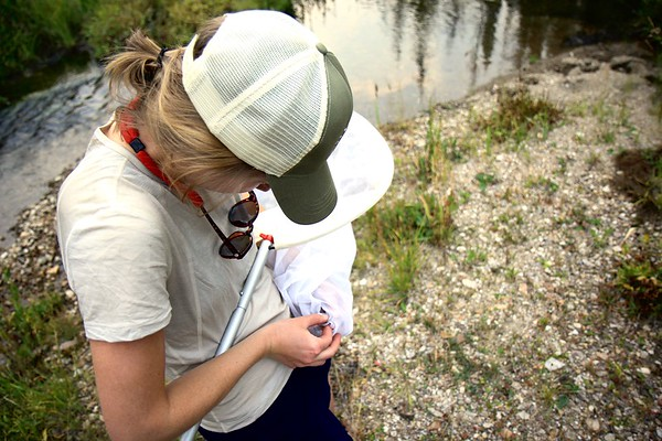 Katie Guetz handling a butterfly PC: Dominic Oakes