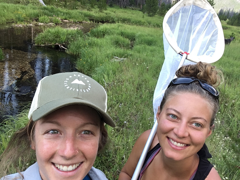 Pollinators volunteers Katie Guetz and Ria Young PC: Dominic Oakes