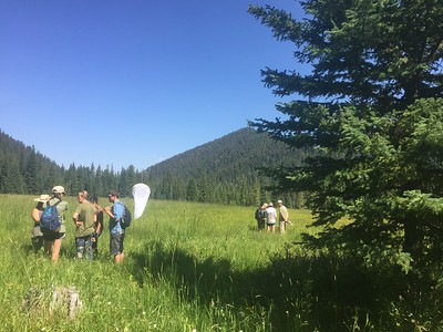Field training at History Rock, Montana