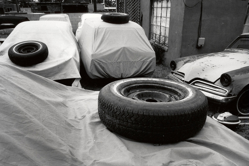 Three tires. Santa Fe, New Mexico. 2003.