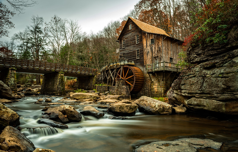 LE shot of the Grist Mill