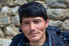 Our trusty sherpa porter Gunga Rai although very small and 49 years old can carry a heavy pack effortlesly un the steep tracks every day.