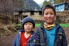 Two local boys at Monjo whose English was excellent. I was surprised that the oldest boy was named Angus!