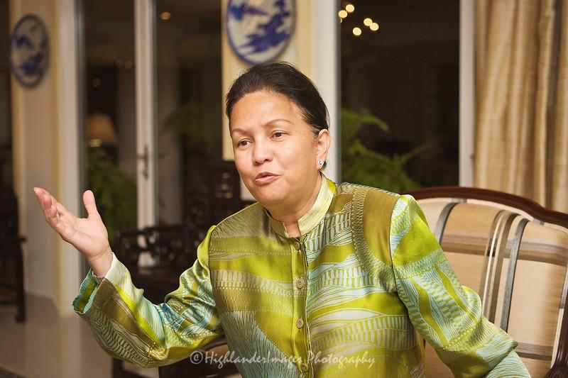 Putrajaya -- July 19, 2009 --Tun Jeanne Abdullah at home in Putrajaya (Stuart Taylor)
