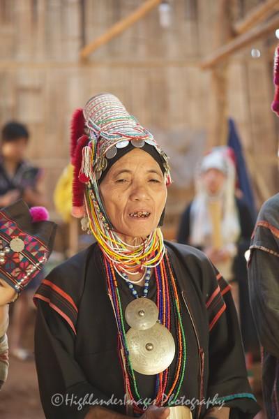 Akha Hill Tribe Woman, North Thailand
