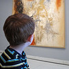 Project 365: January 17 - Took the family to the Denver Art Museum. Colton found some of the art much more interesting than others.