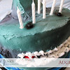 Project 365: August 1 - Shark Attack. 6-year-old's birthday celebration with a ferocious shark cake.