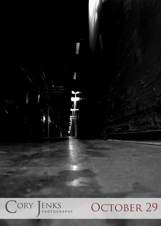 Project 365: October 29 - Dark Corridor. How fast can you run down a dark corridor in the basement of an old building while being chased by the escaped mental patient form the local asylum?