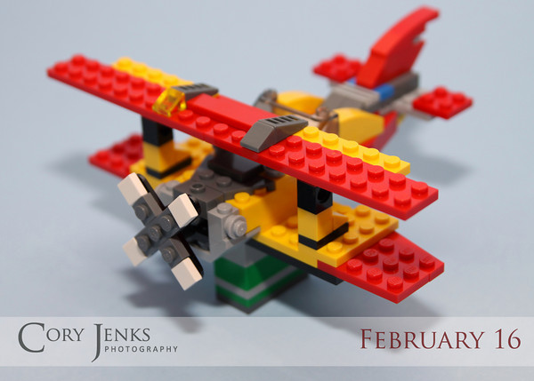 Project 365: February 16 - The Other Plane. Colton received a new Lego kit before I left on the trip to Vegas. Today I told him if he could get the plane built before I got home, his plane would be the picture of the day.