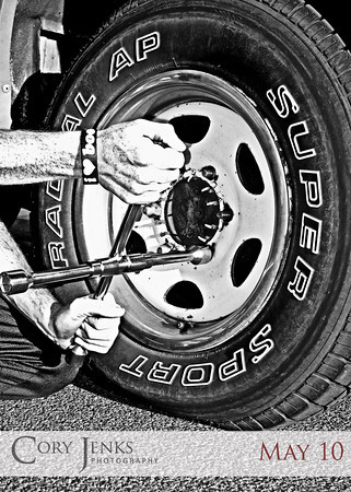 Project 365: May 10 - License to Drive. Travis passed his drivers test, received a license to operate a motor vehicle, and then proceeded to learn to change a tire as he got a flat on his first outing. Sign of things to come?