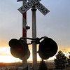 Project 365: January 18 - Railroad crossing at sunset.
