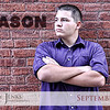 Project 365: September 17 - Mason. Still in the middle of Senior portrait season and tonight was my nephew.