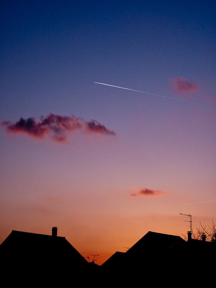"""081 - Sky Line<br /> ------------------<br /> J'ai hésité à l'intituler """"Oiseau rêvant aux voyages""""<br /> I hesitate to give """"Bird dreaming of traveling"""" as title"""