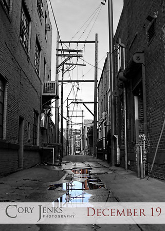 Project 365: December 19 - Alley. Dowtown to shoot an assignment, stopped and shot this alley. A little Topaz and Photoshop and 'viola'.
