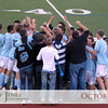 Project 365: October 21 - Celebration. Last High School home soccer match. Win and they go to State playoffs. Who is in the middle of the celebration? Travis. He had the game winning OT goal! Well done boy.