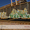 "Project 365: March 15 - Tagged. This rail car was tagged, from what region I do not know, but this ""art"" has traveled many miles. A little post processing fun makes this look like a painting rather than a photo."