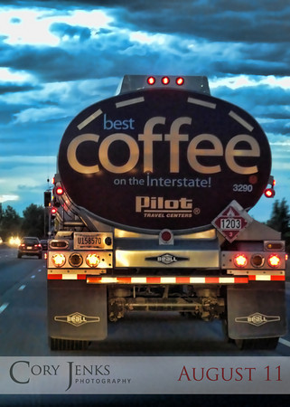 "Project 365: August 11 - Java Tanker. A double tanker truck of the ""best coffee on the insterstate!"" Sweet holy bean juice! Where's my cup?"
