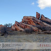 Project 365: February 1 - Red Rocks. This red sandstone formation may not be as famous as THE Red Rocks, but are still striking in their own little sibling kind of way.