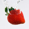 Project 365: June 14 - Strawberry Dive. Just another experiment working on timing and lighting.