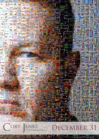 Project 365: December 31 - Photographer and His Photos. Some thought went into what would be the last photo of my first Project 365. I want to thank everyone that has liked, commented, or simply viewed my photos over the last 365 days. A self-portrait mosaic using the 364 photos from the project! thanks again!
