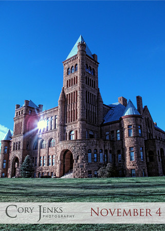 """Project 365: November 4 - Big Red Castle. Originally built in 1893 with plans to be """"the Princeton of the West"""", this """"castle"""" stands tall with its red sandstone in stark contrast to the beautiful blue sky."""