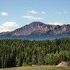 Project 365: July 11 - Outbound View. Leaving the campsite, Pike's Peak was in all her glory.