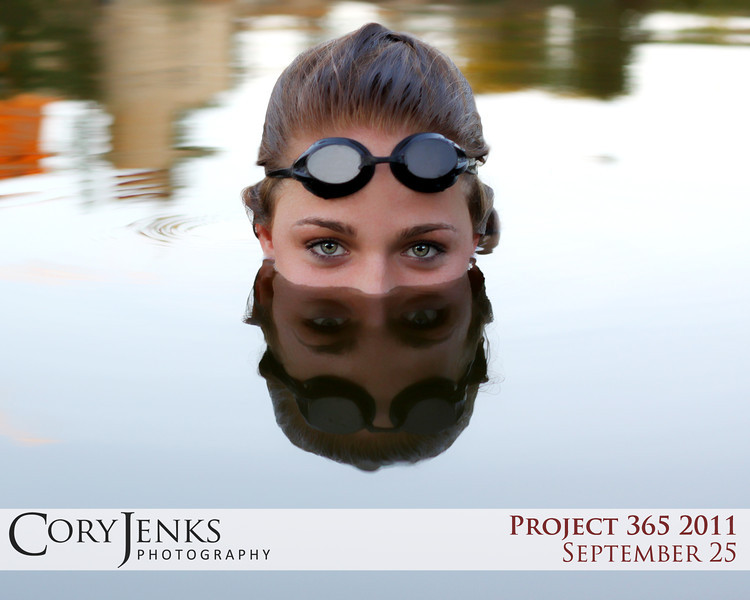 Project 365: September 25 - Swimmer's Eyes. What is a better place to shoot a swimmer's senior photos than acually in the water?