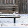 Project 365: February 6 - Cool Bench. How'd you you like to wait for public transportation on this cold seat?