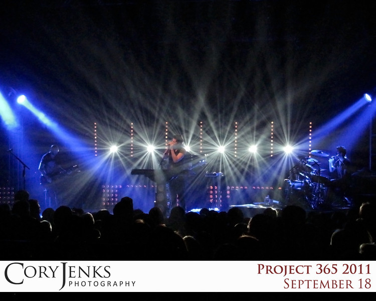 Project 365: September 18 - On Stage. The Script at the Ogden Theater.