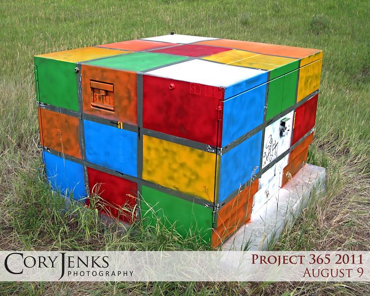Project 365: August 9 - Rubik's Box. Is graffiti vandalism or art? In my world it's both.