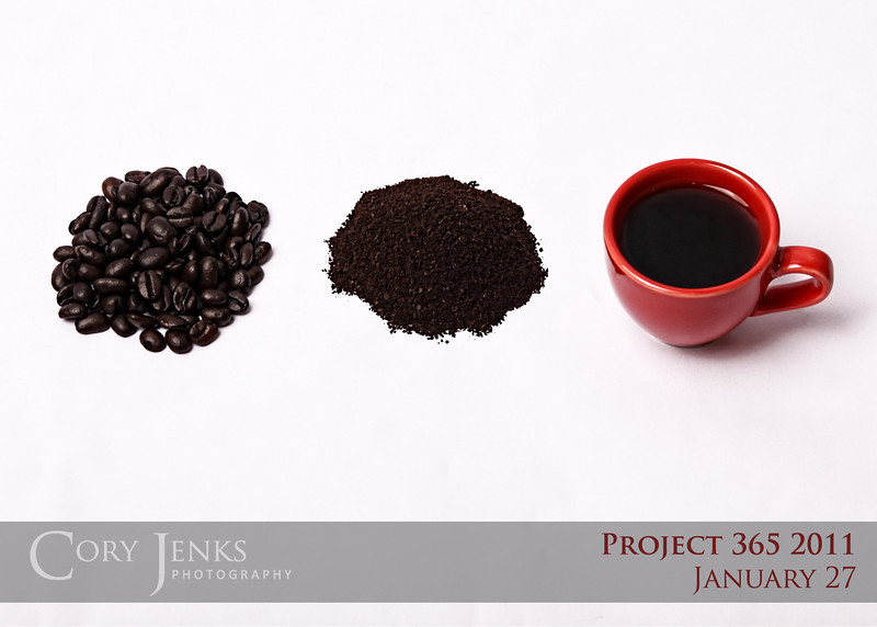 Project 365: January 27 - Evolution. Simple enough, I love coffee.