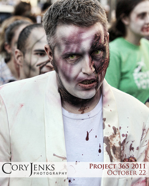 Project 365: October 22 - Zombie. The 2011 zombie crawl at the 16th Street Mall in Denver. A vast assortment of all things zombie.