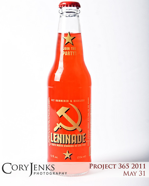 Project 365: May 31 - Pop Art. I am always looking for soda pop bottles to add to my Pop Art photos. This one is hilarious. Leninade. A taste worth standing in line for. Get hammered and sickled. Drink Comrade! Drink! It's this or the Gulag! Join the Party!