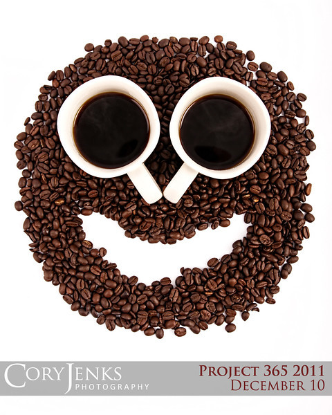 Project 365: December 10 - Morning Coffee. One of my favorite things! Morning coffee puts a smile on my face!