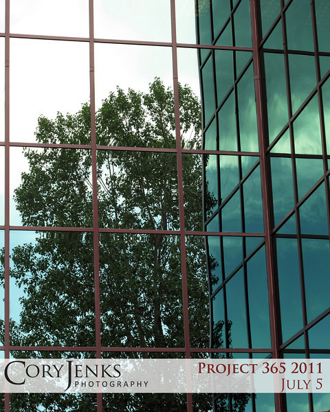 Project 365: July 5 - Urban Mirror. The reflection off this building was just to good to pass up.