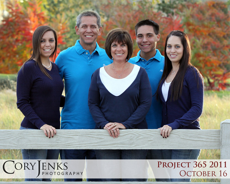 Project 365: October 16 - Family. Still time to get family portraits done with the stunning fall colors!