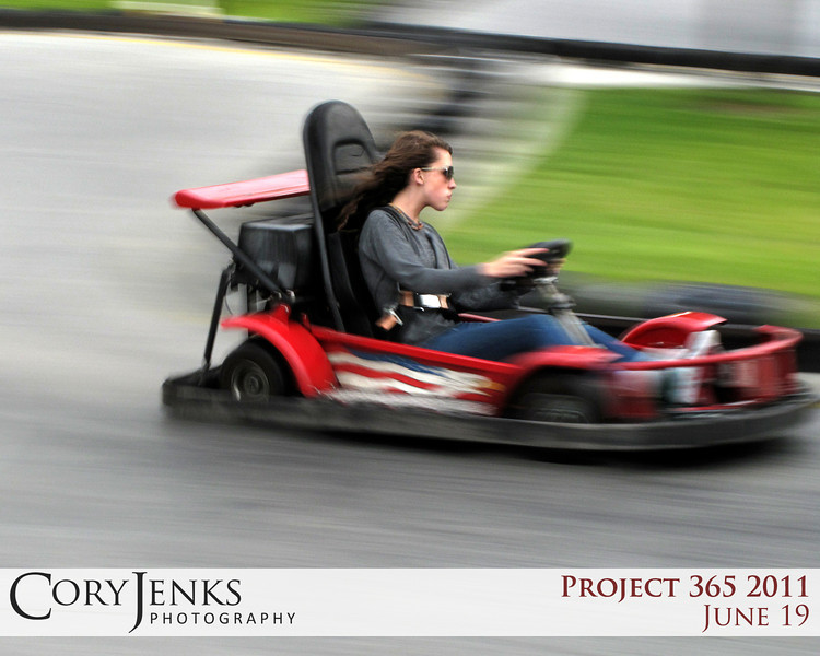 Project 365: June 19 - Speedster. First real attempt at a panning shot. Slowing the shutter speed down and panning the subject as it goes by. Not bad for the Canon G10.