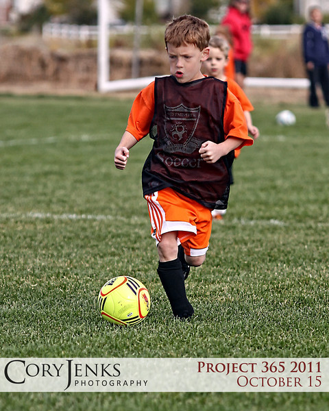 Project 365: October 15 - Seriousness. A serious look on a face determined to score.