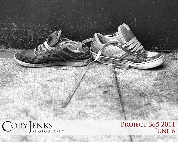 Project 365: June 6 - Right Soles. Somewhere there is a poor soul walking around with a matching set of left shoes...