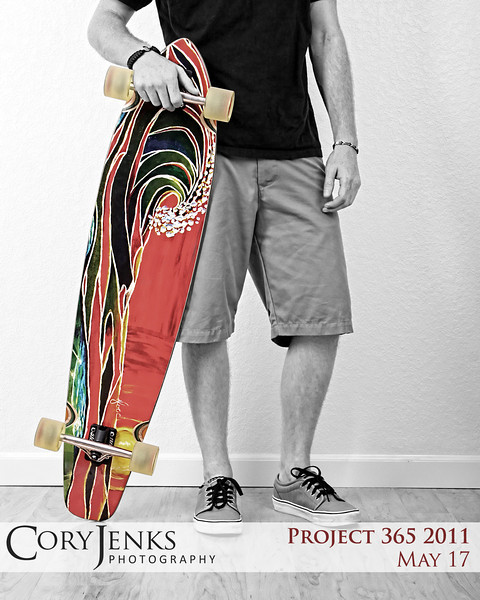 Project 365: May 17 - Long Board. Selective coloration can work and sometimes it doesn't. For me, this is a case where I think it works perfectly.