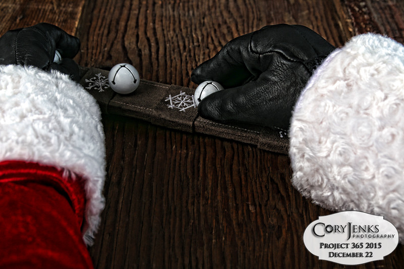Project 365: December 22 - Santa's Helping Hand 22.<br /> <br /> Santa helps check each jingle bell for the sleigh and reindeer harnesses before the big trip. Remember, jingle, jingle, jingle you will hear his sleigh bells ring. He is old Kris Kringle, he's the king of jing-a-ling.