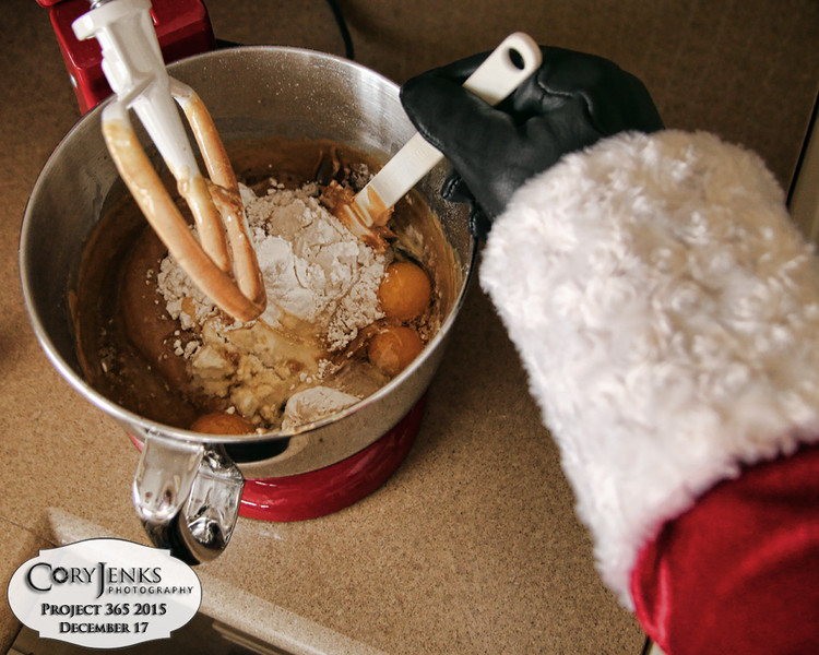 Project 365: December 17 - Santa's Helping Hand 17.<br /> <br /> Santa helps in the North Pole bakery again by making his secret recipe Christmas cookies.